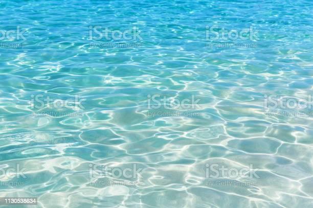 Photo of Shining blue water ripple background