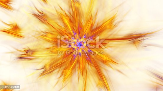 istock Shining brightest stars. Exotic flower. 612738808
