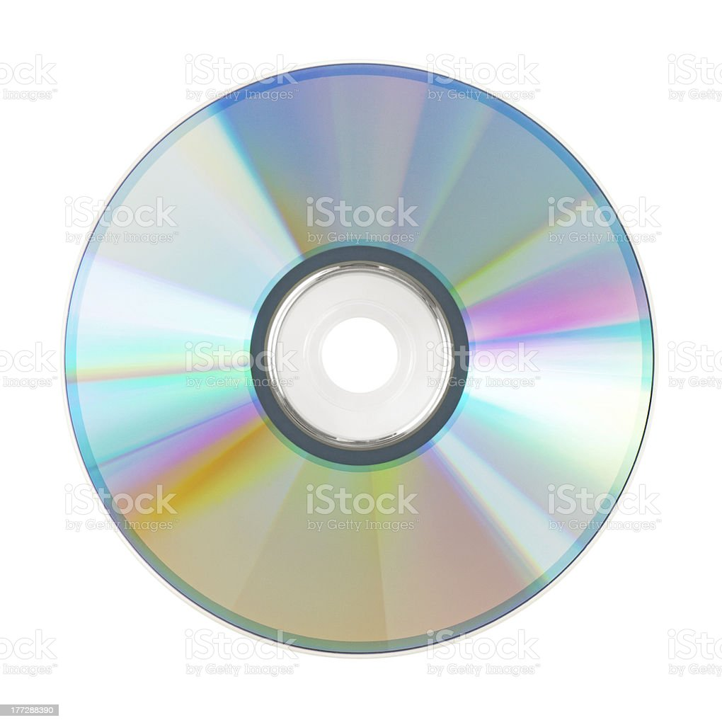 Shining CD for the computer stock photo
