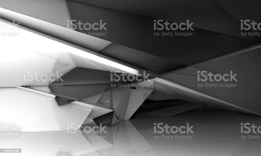 Glitzernde chaotisch Innenraum, 3d polygonal crystal – Foto