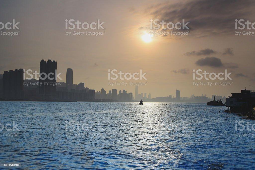 Shining city, Lei Yue Mun, Hong Kong photo libre de droits