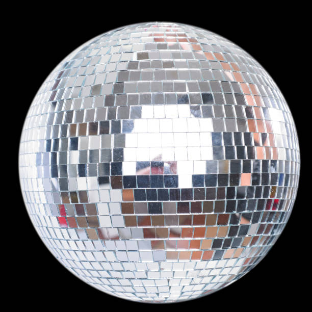 shining disco ball isolated on black - disco ball stock pictures, royalty-free photos & images