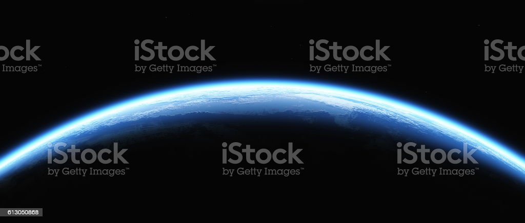 Shining earth stock photo