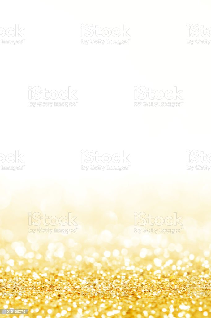 shining glitters gold holiday bokeh background stock photo