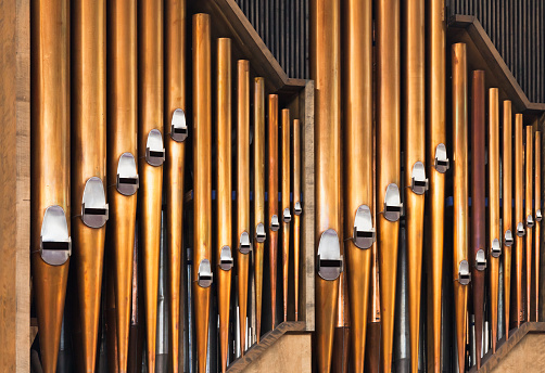 Shining organ tubes, classical music