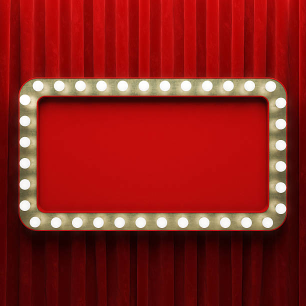 shining retro banner - circus background stock photos and pictures