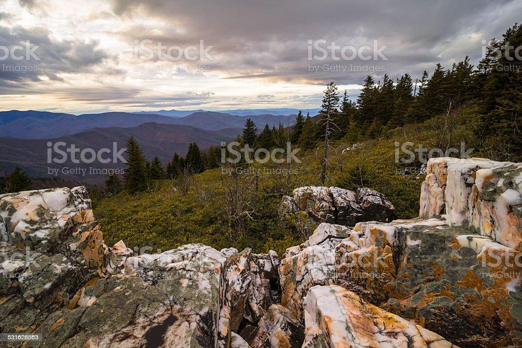 Shining Rock Mountain stock photo