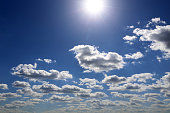 Summer cloudscape, beautiful background for good sunny weather