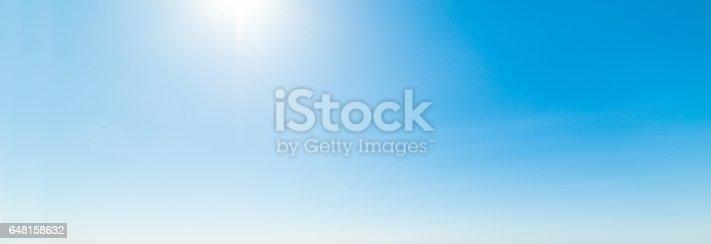 istock Shining sun and blue sky 648158632