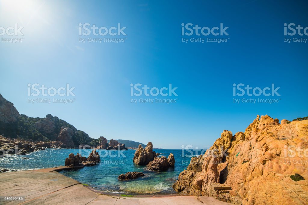 Shining sun in Costa Paradiso royalty-free stock photo