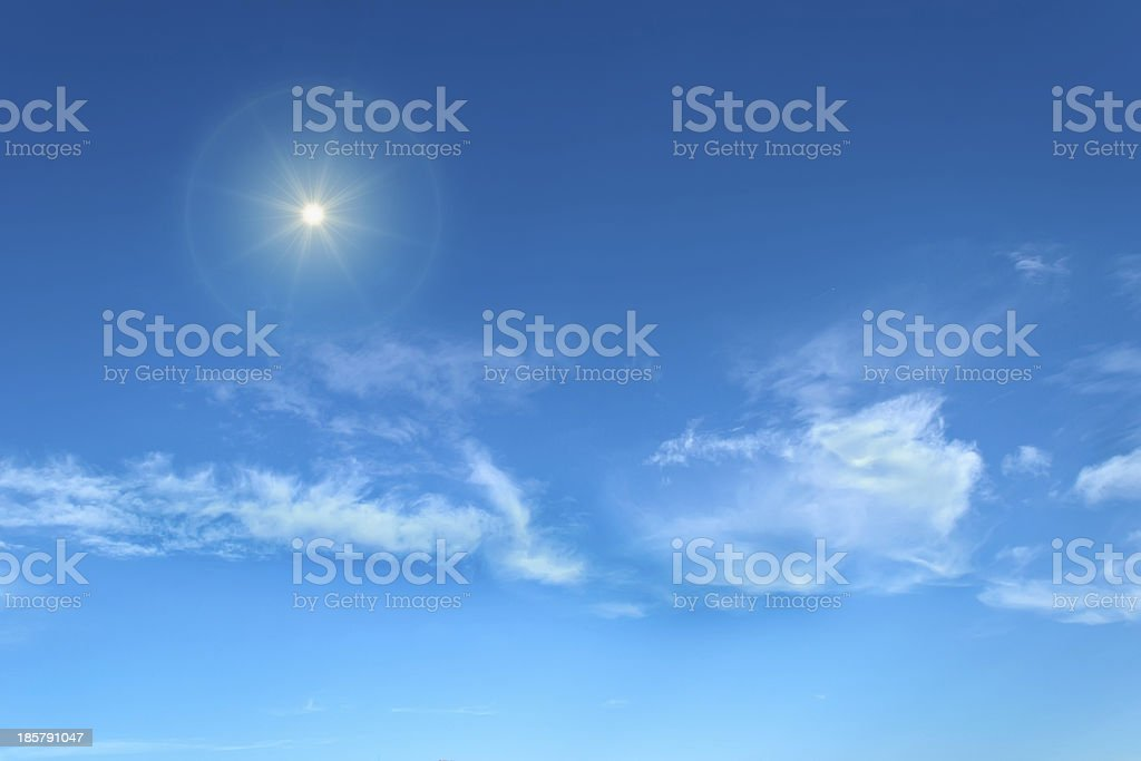 shining sun royalty-free stock photo