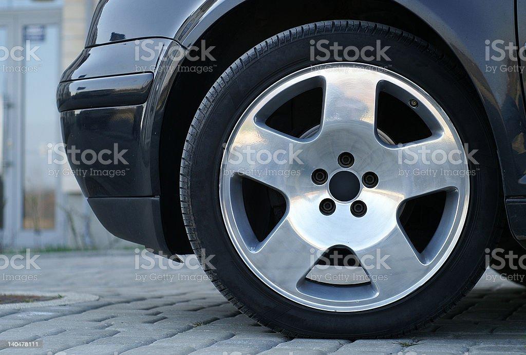 Shining wheel stock photo