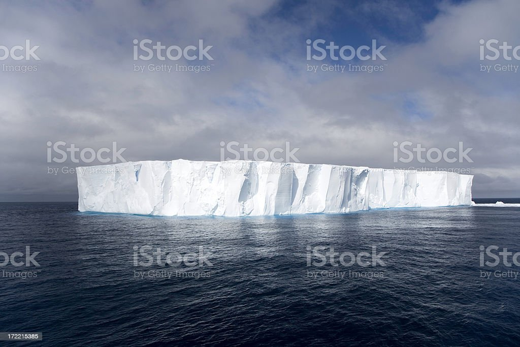Shining White Tabular Iceberg Antarctica royalty-free stock photo