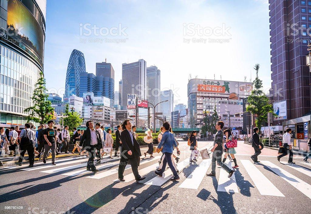 Shinjuku shopping district, Tokyo, Japan bildbanksfoto