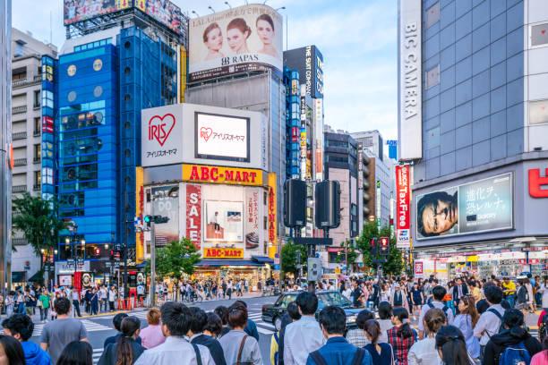 shinjuku shopping district, tokyo, japan - shinjuku ward stock photos and pictures