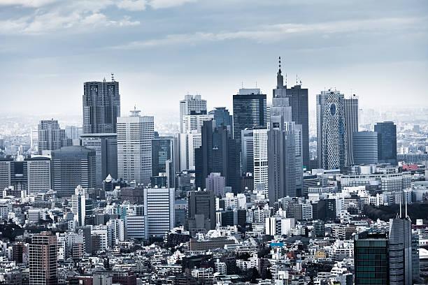 shinjuku skyline in tokyo, japan - shinjuku ward stock photos and pictures