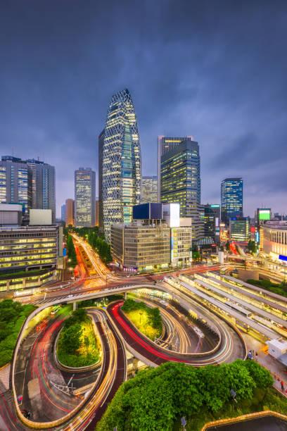 shinjuku, tokyo, japan cityscape - shinjuku ward stock photos and pictures