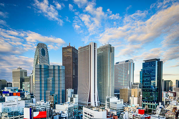 shinjuku, tokyo, japan - shinjuku ward stock photos and pictures
