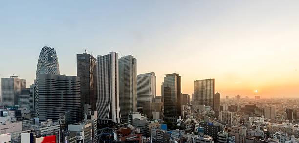 Shinjuku Ward skyline in Tokyo, Japan. – Foto