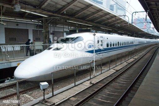 Shinkansen Tren Bala En La Estación De Tren De Tokio