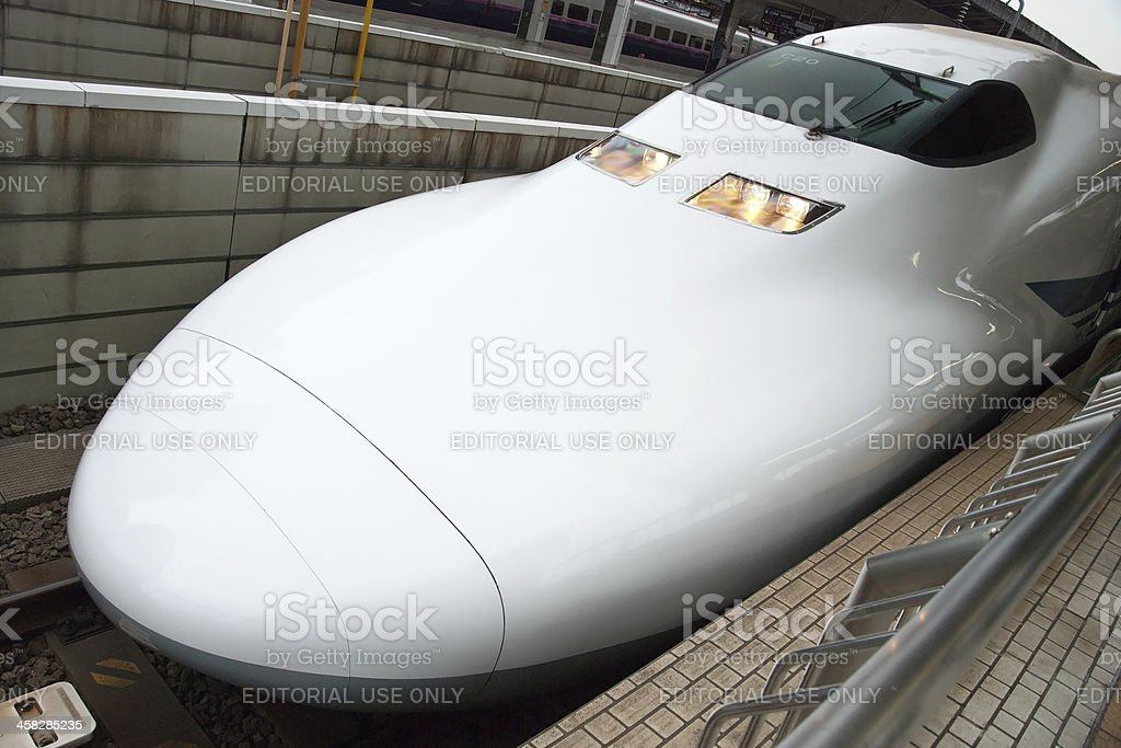 Shinkansen bullet train at Tokyo railway station royalty-free stock photo