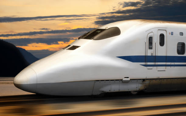 Shinkansen Bullet Train in Japan stock photo