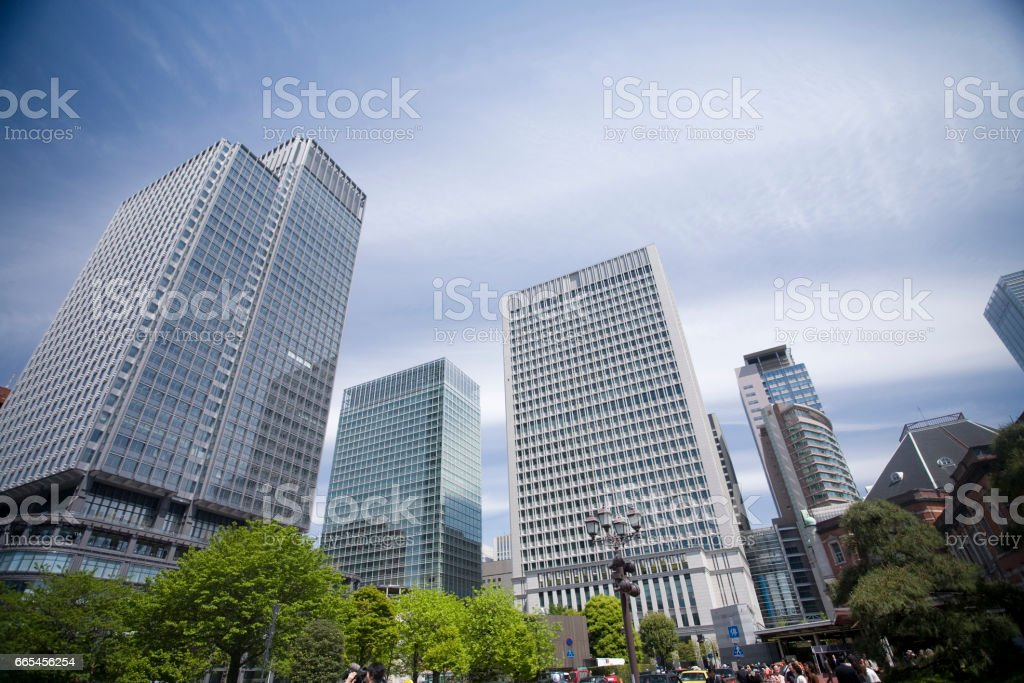 Shin-Marunouchi building stock photo