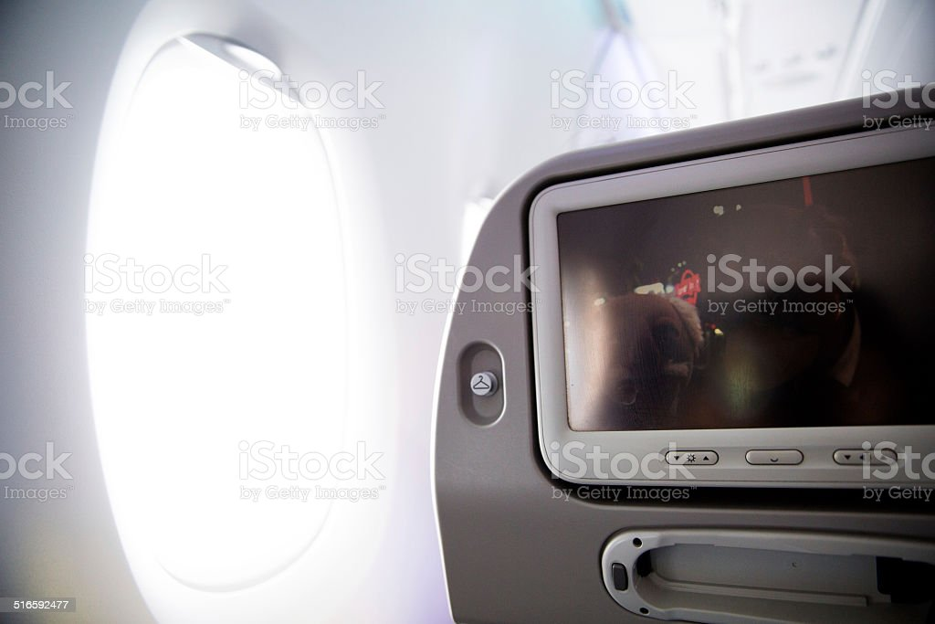 shinning window seat stock photo