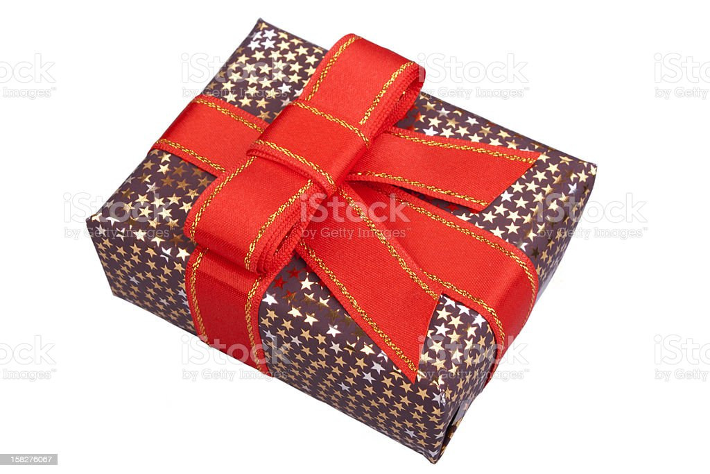 shinny present box royalty-free stock photo