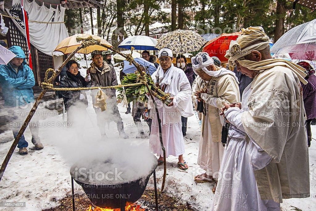 Shinto Ceremony stock photo
