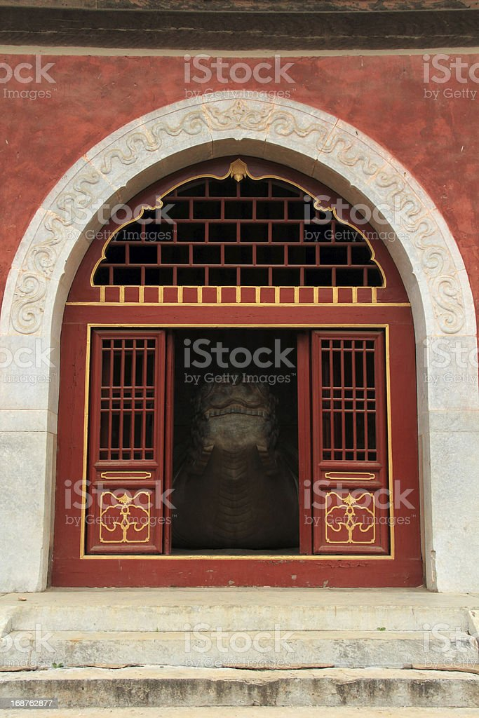 Shinto Pavilion gates, Chinese ancient architecture landscape royalty-free stock photo
