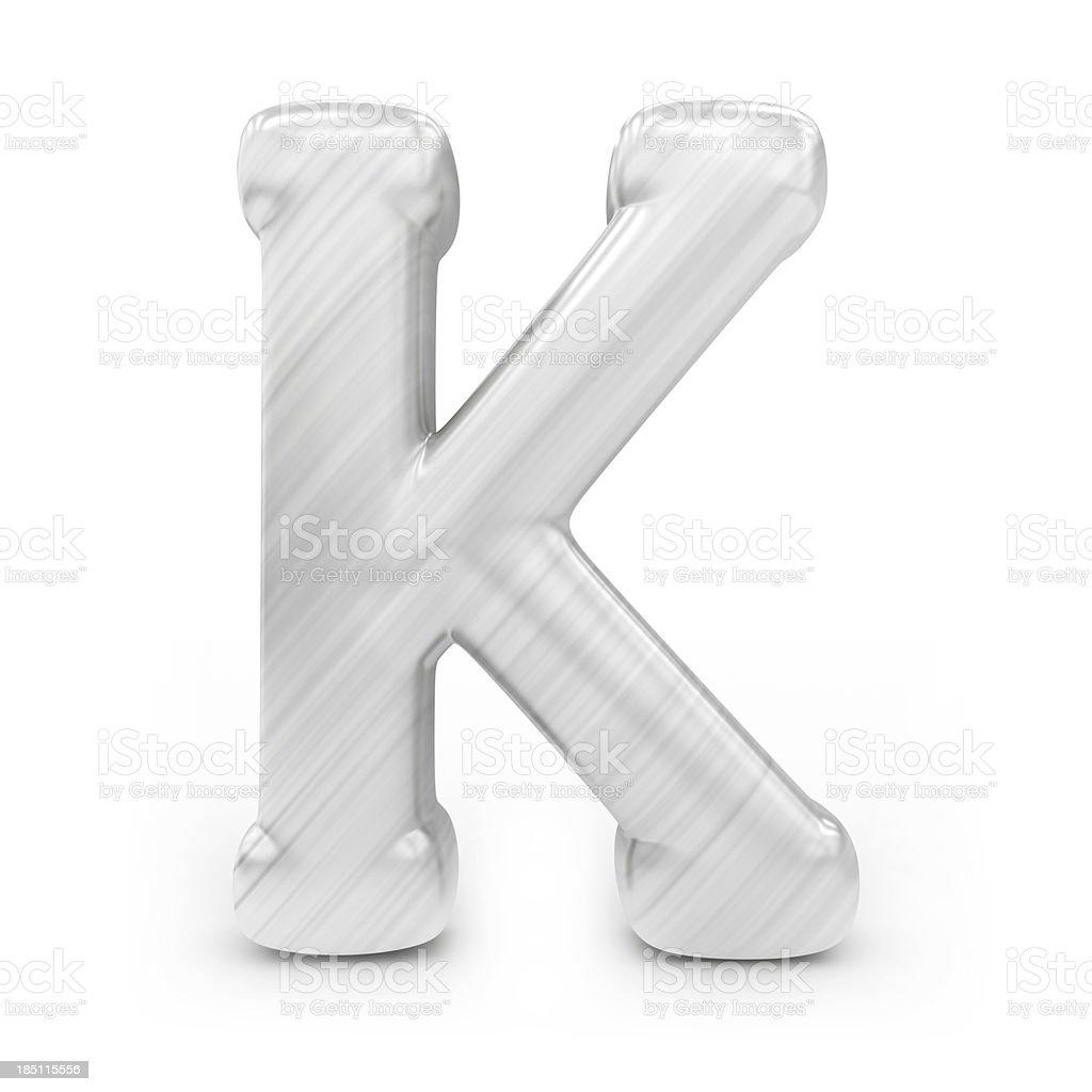 Shiny alphabet - K royalty-free stock photo