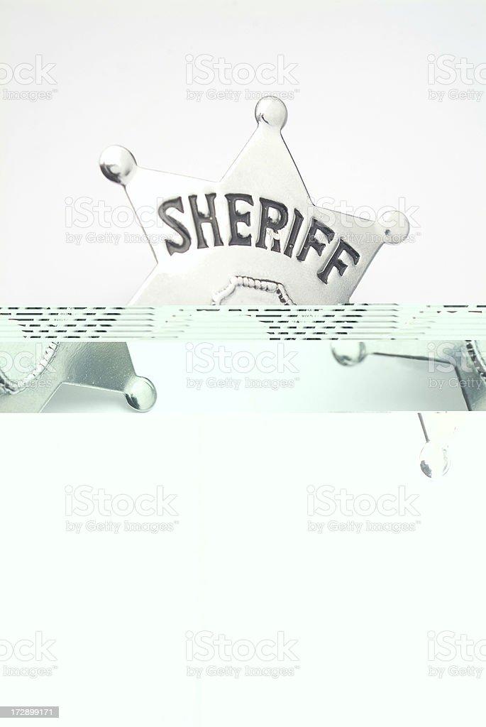 shiny and bright sheriff's badge royalty-free stock photo