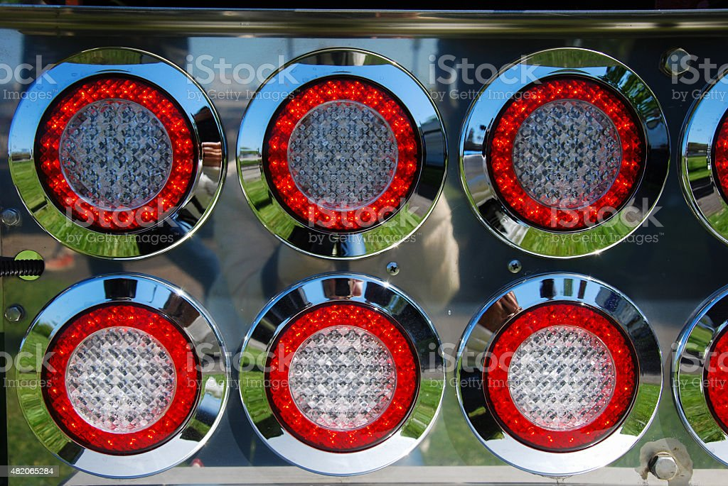 Shiny back lamps stock photo