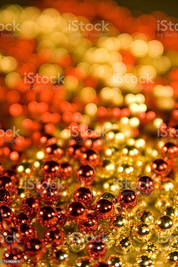 Shiny Beads for background christmas design element stock photo