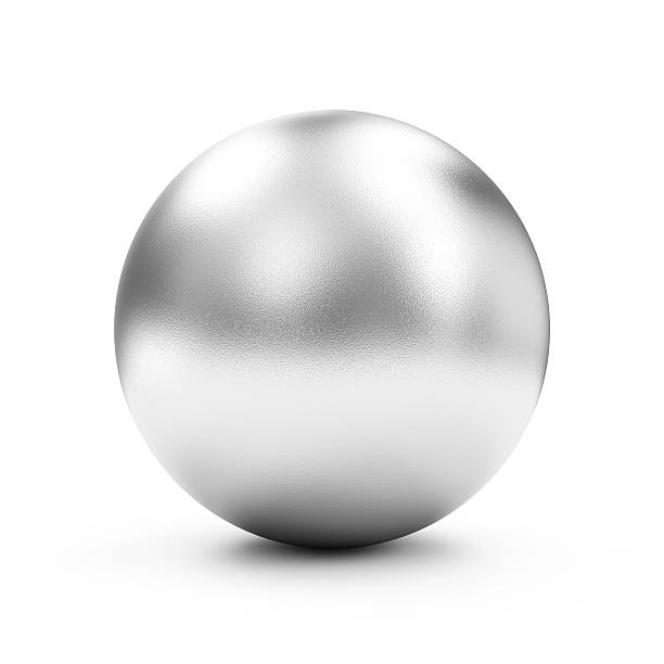 Shiny Big Golden Sphere or Button isolated on white background stock photo
