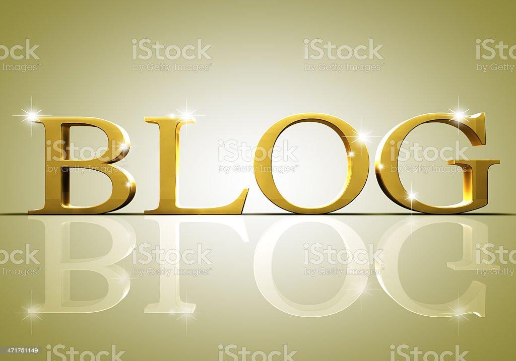 shiny blog text royalty-free stock photo