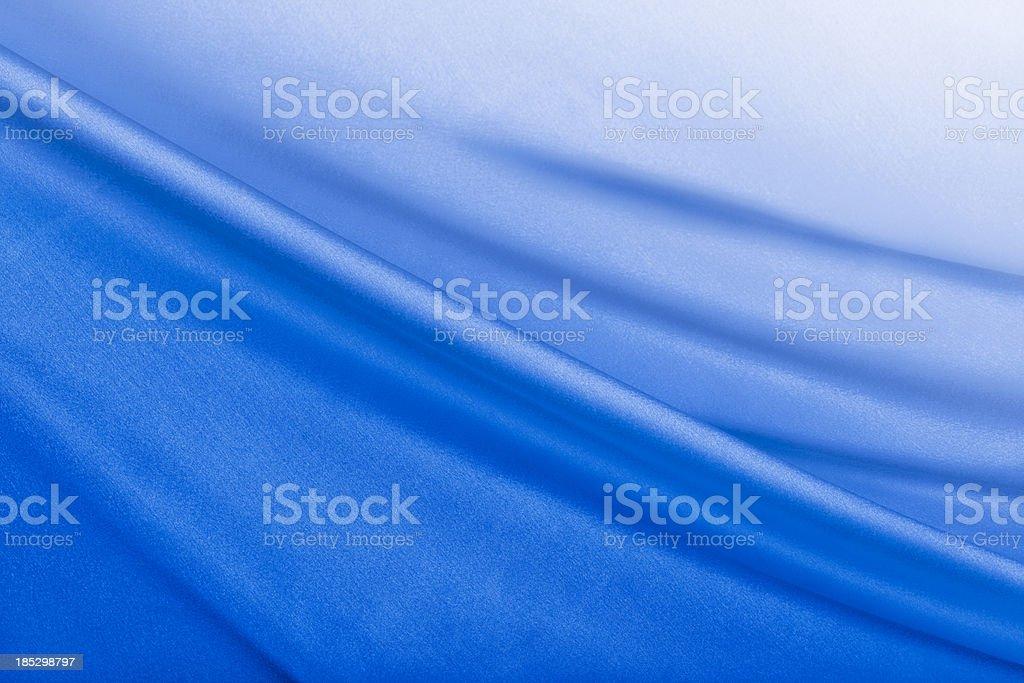 Shiny Blue Satin Background stock photo