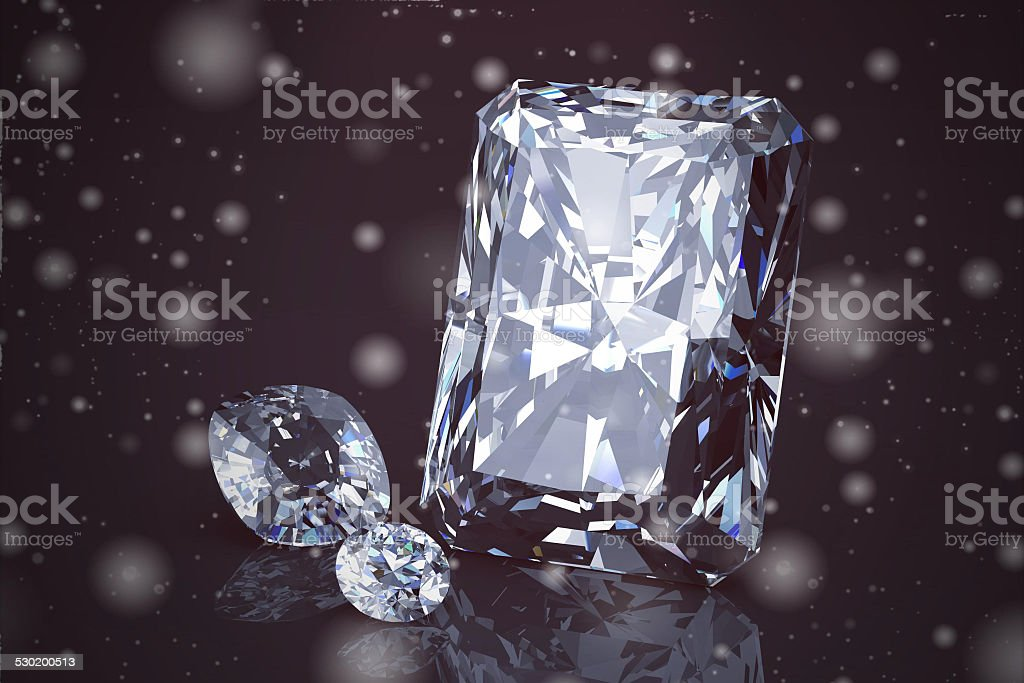 Shiny bright diamond on background ( Vintage Style) stock photo