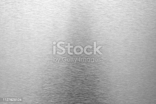 istock Shiny brushed metal background 1127625124