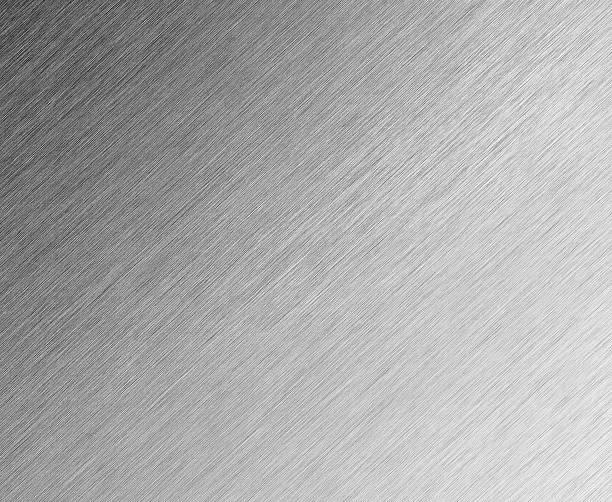 Shiny Brushed Steel background stock photo
