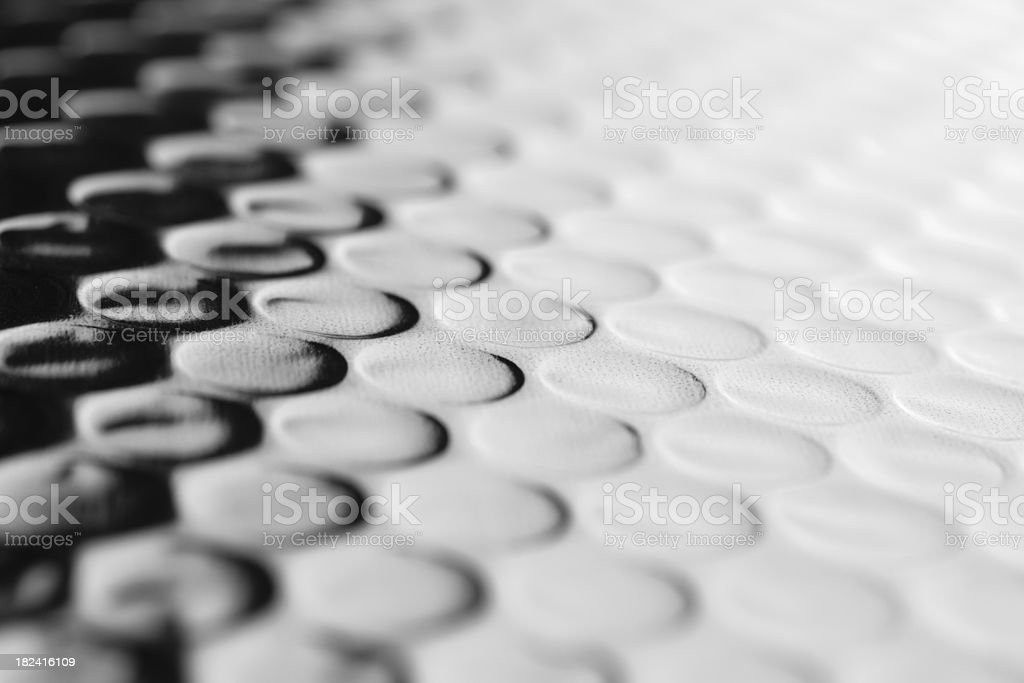 Shiny bubble wrap stock photo
