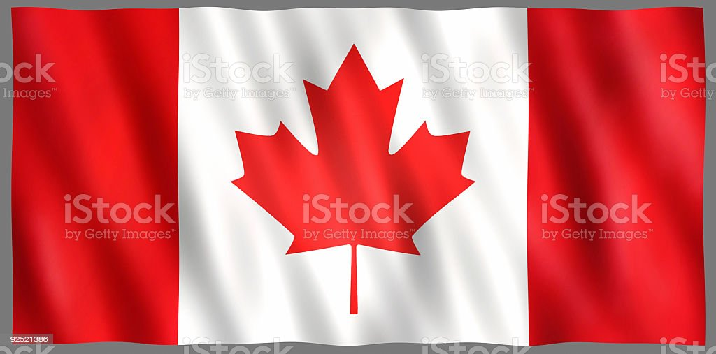Shiny Canadian Flag royalty-free stock photo