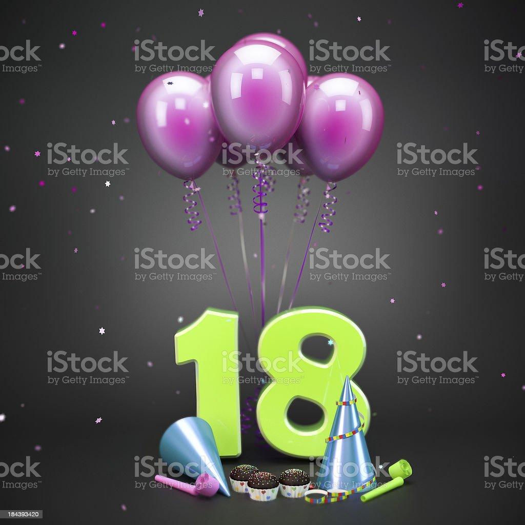 Glänzende celebration party-Zubehör auf dunklem Hintergrund mit fallenden Konfetti. – Foto