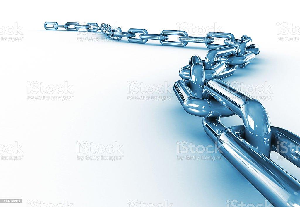 Shiny Chain royalty free stockfoto
