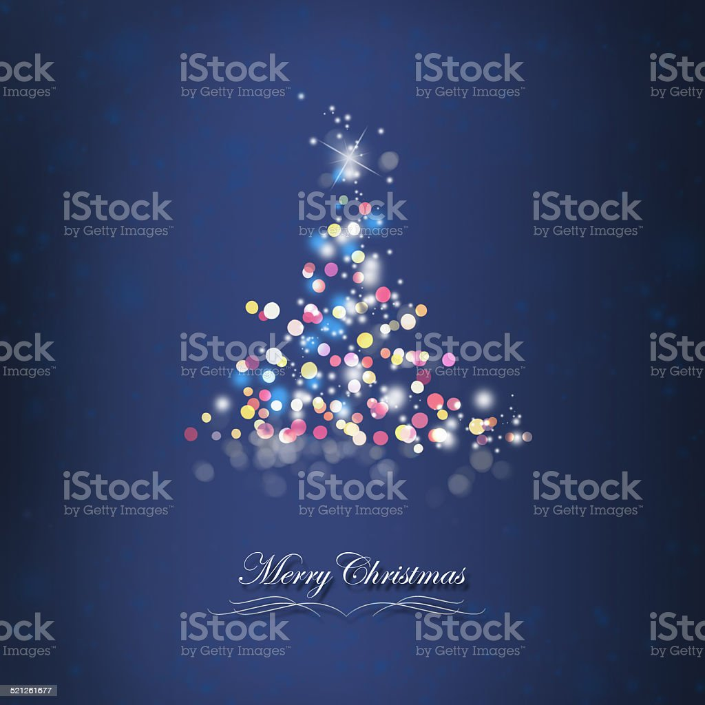 Shiny Christmas Tree Card stock photo