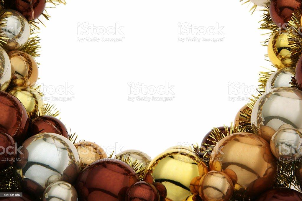 Lucido Natale Ghirlanda foto stock royalty-free