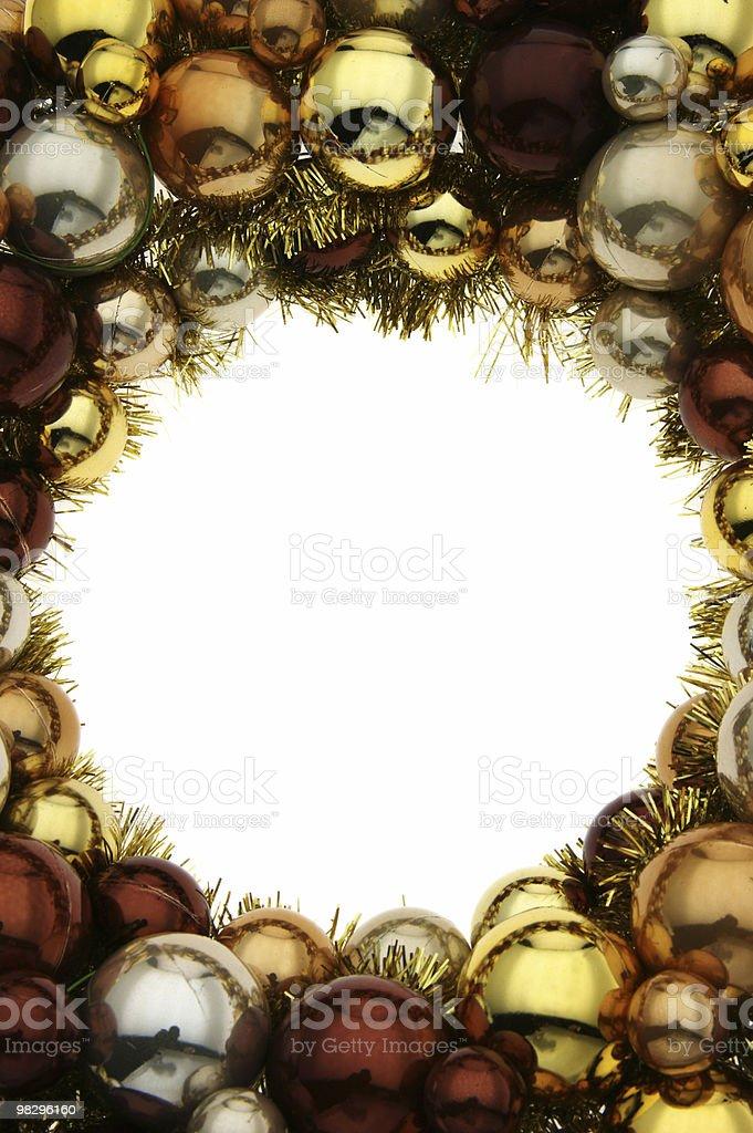 Shiny Christmas Wreath royalty-free stock photo