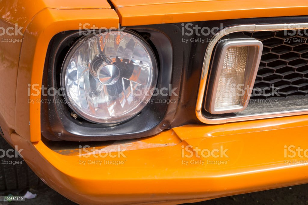 Shiny Classic Car front royalty-free stock photo