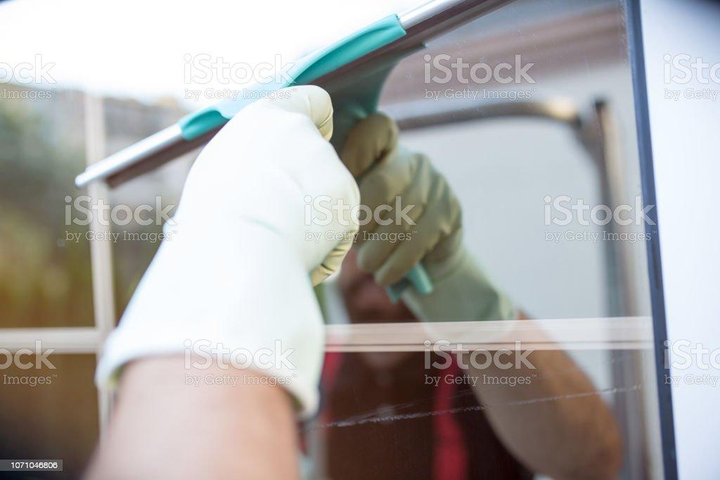 Shiny clean window stock photo